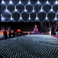 Wholesale White LED Net Mesh Decorative Lamp Fairy Lights Twinkle Lighting Christmas Wedding Party Light US Plug V TK1131