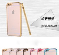 Wholesale camera protector Aluminum metal bumper frame case cover skin shell for iPhone dual color metal bumper frame