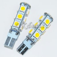 Wholesale 2PCS T10 W lm SMD LED Warm White Light Car Clearance Lamp V car styling parking
