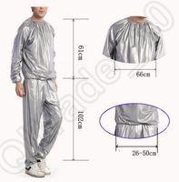 Wholesale 100PCS LJJH1275 Unisex slimming sportswear Sauna Suit Cloth Top Pants Gym Workout Yoga Exercise Slimmer Boxing
