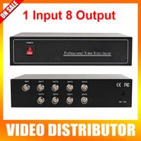 8* BNC analog video splitter - 2016 New Arrivals Ch In And Ch Output Professional Analog HD Video Splitter Support HDCVI HDTVI AHD Camera BNC Output Max Up To m
