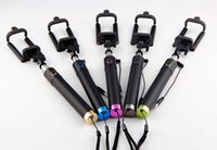 Wholesale New Arrival Pocket Locust Wired Monopods selfie monopods Protable Selfie stick Self timer Self Timer Extendable Handheld Self portrait ZQ1