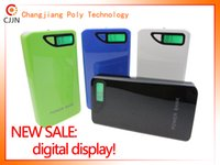 Wholesale digital display power bank huge capacity portable battery charger CJ mAh emergency battery Backup Battery for all phones