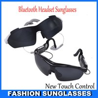 bluetooth headset sunglasses - New Touch Control Technology Sun Glasses Bluetooth Headset Sunglasses Stereo Bluetooth Headphone Wireless Handsfree Hot selling