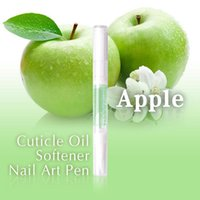 apple nail art - Cuticle Oil Apple Flavor Cuticle Revitalizer Oil Treatment Manicure Softener Nail Art Pen EQA005