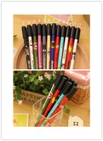Wholesale Cute Pen Hot Kids Lovely Printing and Non slip Neutral Pen Fashion Student Creative Black and Plastic Pen