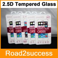 Wholesale 2 D Tempered Glass Screen Protector for S6 Edge mm Treated Glass iphone plus iPhone6 iPhone Samsung S4 S5 Note Note