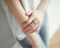 bead set band - 12sets fashion korean black blue bead bronze silver retro midi ring set