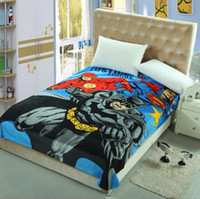 Wholesale Super hero blanket set New design MARVEL The Avengers coral fleece blanket super hero Captain America Hulk Spiderman bedding sheet thin blan