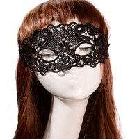 Wholesale Supernova Sale New Black Cutout Mask Lace Veil Sexy Prom Party Halloween Masquerade Dance Mask Blindages PMS238