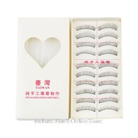 Wholesale 10Pairs Set Makeup False Eyelashes Soft Natural Cross Long Eye Lashes Extension maquiagem