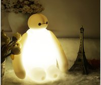 animations desk lamps - Big Hero Baymax LED Light New Arrivals Night Light Cute Table Lamp Hot Animation USB Charging Desk Lamps Mini Portable Night Lights