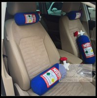 Wholesale NOS Cushion BLUEComfortable and creative car pillowcases on the pillows decor NOS nitrogen bottles decorative pillow cushion for leaning on