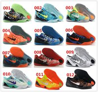 Wholesale 21 colors Top Quality Independence Day kobe KB IX Elite Easter Brazil Low Men Basketball Sneakers Chinese Red Trainers Shoes size