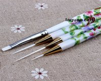 Wholesale tool control SET Tiny Acrylic Nail Art Drawing Pen Nail Brush Set Painting Tools Dotting Drawing Tools
