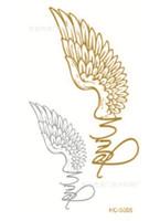 Wholesale New Arrive Design Flash Tattoo Removable Waterproof Gold Tattoo Metallic Temporary Tattoo Stickers Temporary Body Art Tatoo
