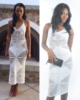 angela simmons - White crochet maxi dress celebrity Angela Simmons lace bodycon dress evening party cover up dress