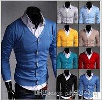 Wholesale New Autumn Fashion Crime Brand Knitting Cardigan Sweater Men Cardigan Sweater Leisure Men v neck Sweater Men