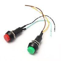 Wholesale Audew V A Universal Auto Motorcycle Horn Push Button Resettable Switch Green Red order lt no track