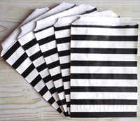 Wholesale 13x17cm Black stripe Paper Favor Bags Gift Bitty bag