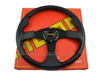 Wholesale mm MOMO NOB Classic Steering Wheel PVC Carbon Fiber Look universal fitment have stock ready to ship