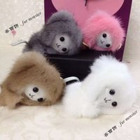 antique doll accessories - Fashion mink fur Bag Accessory Plush little monkey Key ring pendant Bag charm Mini cute doll