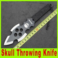 dive knife - New skull throwing knife diving knife outdoor survival knives Hunting Fighting Knives Pocket Knife Survival collection knife knives A310X