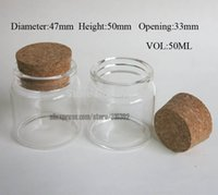 Wholesale Fashion x ml Clear Glass Wishing Bottle With Cork Pack DIY Lucky Bottle Empty ml Glass Jar