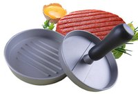 bbq hamburgers - 12cm Metal Non Stick Patty Maker Hamburger Meat Beef Press Grill BBQ Burger Mould DIY Kitchen Tool