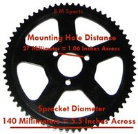 49cc mini bike parts - Mini Pocket Bike Scooter Parts cc cc Rear Sprocket teeth