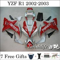 fairing r1 - Motorcycle Fairing Set Fit Yamaha YZF R1 YZF R1 Fortuna Red Silver Painting Motorbike Cowling Injection Bodywork Gifts
