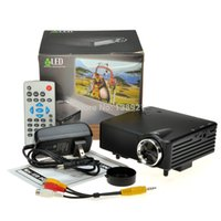 Wholesale H80 Bright LM HD P Mini LCD Image System Multimedia LED Projector Home Theater Cinema Digital Projectors x