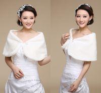 best warm winter coats - 2015 Best Selling Cheap White Faux Fur Bridal Wraps Jackets Shrug Shawl Fashion Winter Warm Modern Wedding Bridal Winter Coat Shawl Wraps