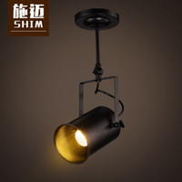 american light pole - Modern American industry personality LED track light Creative Cafe Bar living room with dining pole surface mounted spotlights