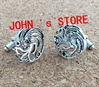 Wholesale Freeshipping pc a the Game of Thrones Targaryen Cufflinks UNWX01