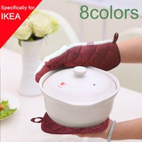Wholesale Pot Holder Oven Glove Mitt Cotton Printed Pattern Potholder Sets Cooking Tool Grill Microwave Baking Kitchen Gloves Cake Tools