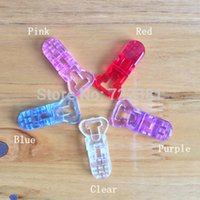 bib clips - DHL Clear Plastic Clips For Pacifier Soother Dummy Nuk MAM Bib Suspender