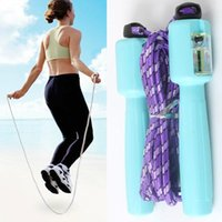 Wholesale Adjustable Digital Lcd Handle Jumping Skipping Rope Counter Timer Gym Fitness Color Random Drop Shipping Sport br