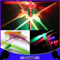 Wholesale New Christmas gift LED Flying Bamboo Dragonfly and amazing LED Flying Light Arrow Rocket Helicopter for kids toys