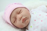 best nylon rope - 55cm silicone reborn babies dolls closed eyes sleeping newborn baby lifelike best baby doll toys gifts
