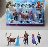 Cheap Hot New Frozen Toys Anna Elsa Hans Kristoff Sven Olaf PVC Action Figures Toys Classic Toys dolls Cartoon Anime Movies toy