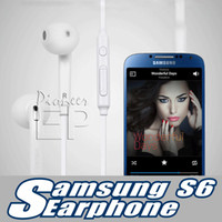 Wholesale For Samsung Galaxy S6 headphone earphone in ear mm For Apple Iphone s In Ear Stereo With Mic Remote Volume Control with Retial Box