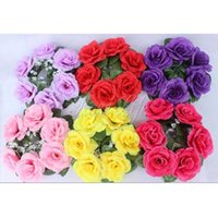 christmas wreath ring - 10Pcs cm Artificial rose flower wreath small Christmas wreath flower garland candle ring wedding decoration