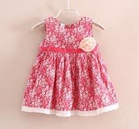blue deep clothing - Children Clothing Girls Spring Summer Floral Vest Dress Red Light Blue Deep Blue