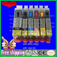 arc cartridges - Refill ink For Canon PGI CLI MG6350 MG7150 MG7550 IP8750 printer with ARC chips refillable ink cartridges with dye ink