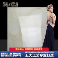 Wholesale Foshan Ceramic glaze white jade whole cast Fanghuadezhuan porcelain tile living room bedroom