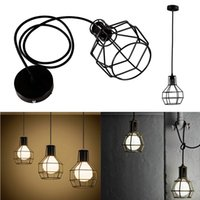 Wholesale Edison Retro Vintage Bar Decor Ceiling Drop Pendant Light Protect Metal Grenade Chandelier Lampshade