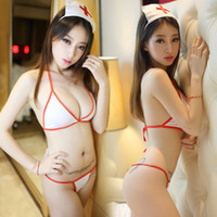 Wholesale nurse cosplay sexy underwear see through Conjoined pant Sleepwear Sexy costumes Night Sexy Underwear Sleepwear Costume one size women