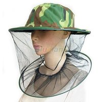 Wholesale 1pcs Mosquito Bug Insect Bee Resistance Net Mesh Head Face Protector Hat Cap Outdoor Cap