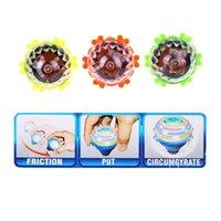 Wholesale Funny Laser Color Flash LED Light Gyro Peg Top Child Kids Toys Novelty Toys Top